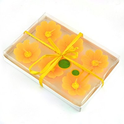 Yellow Roses Candle Set of 6