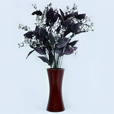 Silver Black Amazing Flowers with Pot