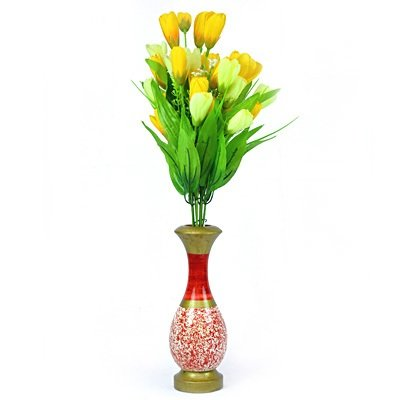 Beautiful Flowers with Metalic Pot Decorative