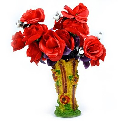 Red Rose Flowers Bouque with Amazing Flower Pot