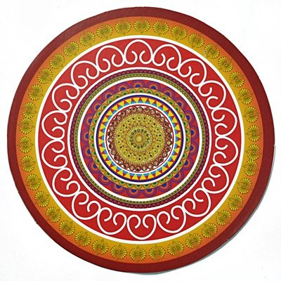 Adhesive Traditional Rangoli with Leaves