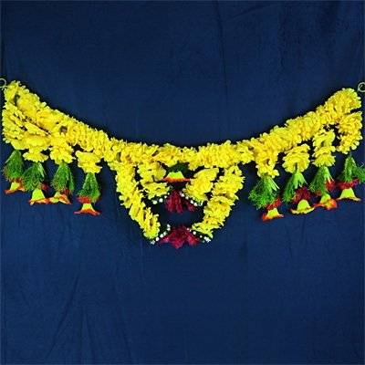 Designer Door Hanging for Diwali with Yellow Flower