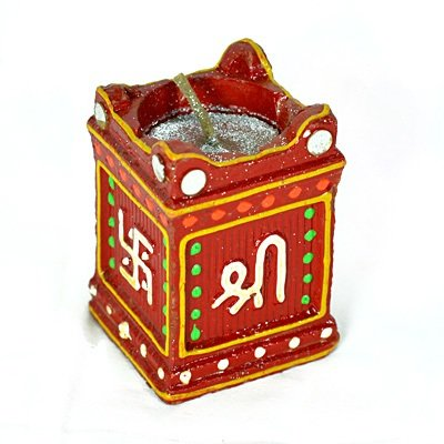 Auspicious Traditional Tulsi Candle for Diwali