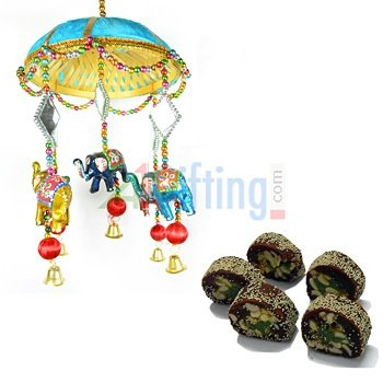 Handcrafted Jhoomer with Elephant Jhalar Royal Anjeer King Sweets for Gift
