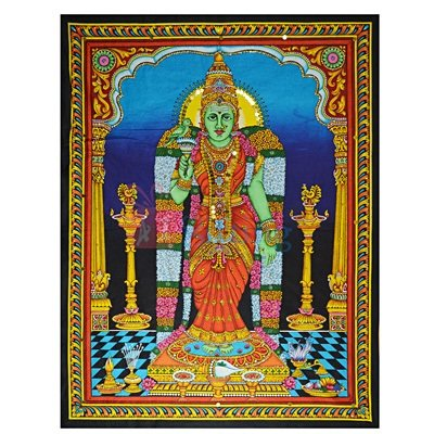 Cloth Wall Hand Painting Godess for Home Decor