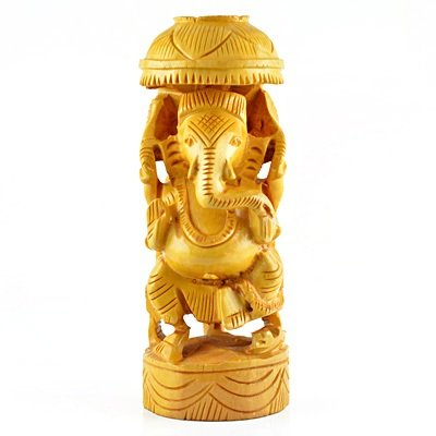 Designer Ganesha Statue in wooden handicraft