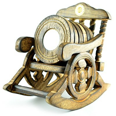 Amazing Rest Chair Wooden Handicraft Coaster
