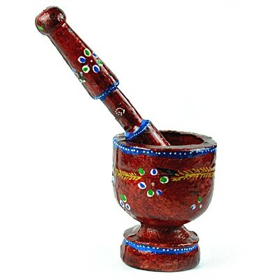 Wooden Handicraft Okhli Decorative item