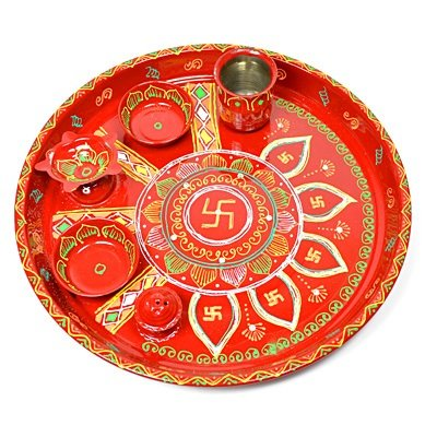 Handicraft Pooja Thali Painted