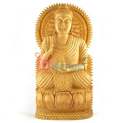 Buddha Wooden Beautiful Handicraft
