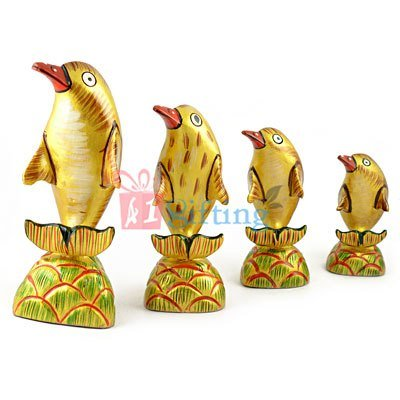 3 to 6 Inch Painted Dolphin Set of 4