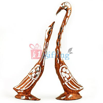 Duck Set - Loving Swan Couple Showpiece