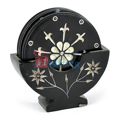 Black Marble Designer Tea Coaster