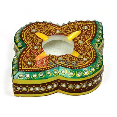 Leaf Flower Shaped Marble Handicraft Ash Tray