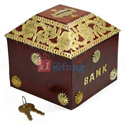 Golden Work Designer Saving Money Coin Box