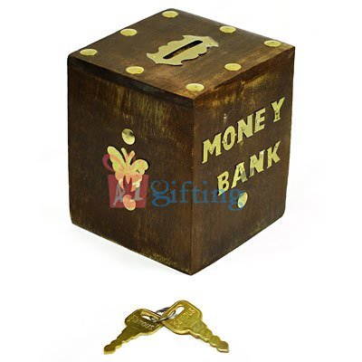 Artistic Wooden Butterfly Money Coin Saving Bank