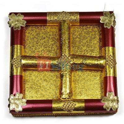 Golden Touch Handmade Dry fruit Serving Tray