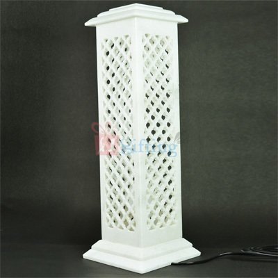 18 Inch Square Marble Piller Lamp Post