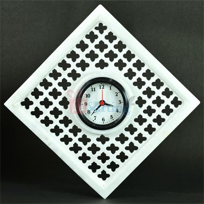 9x9 Inch Square Designer Marble Wall Clock