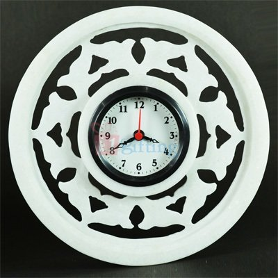 Round Shape 9 Inch Marble Wall Clock