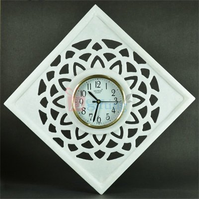 12x12 Inch Marble Carving Antique Wall Clock