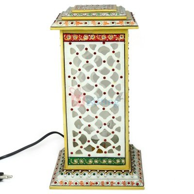 Tower Lamp Square 12 Inch Antique Hand Printed