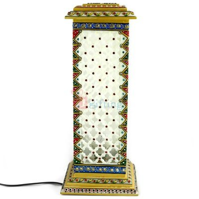 Square Tower Lamp 15 Inch Antique Handicraft Print