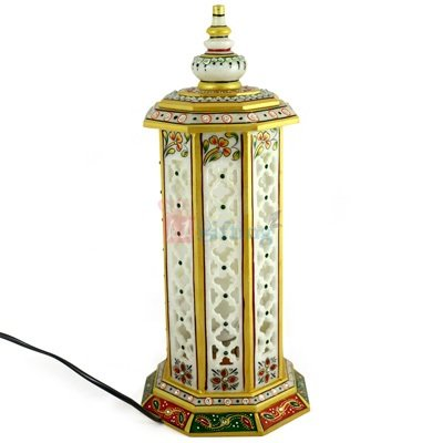 Round Tower Lamp Post 15 Inch Handicraft Print