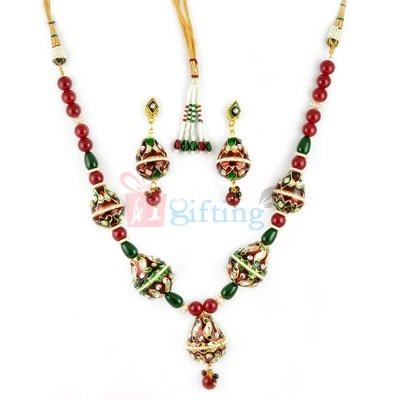 Special Lacquer Jewellry Necklace and Earrings Set