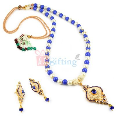 Special Alloy Pendant Necklace with Earrings