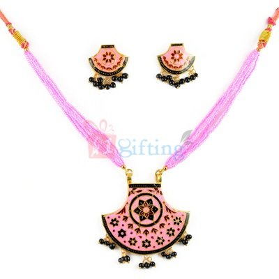 Alloy Thewa Necklace Jewellry with Earrings