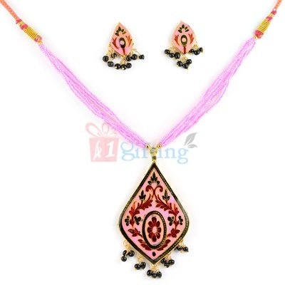 Antique Meenakari Necklace with Earrings