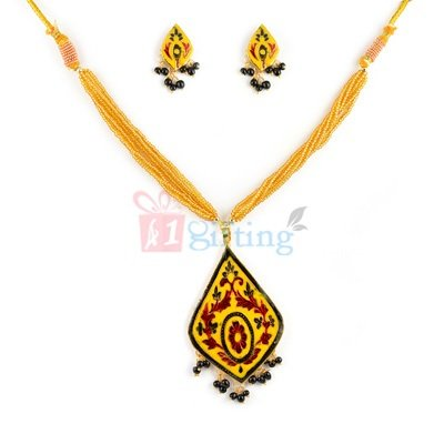 Beautiful Thewa Jewellery Pendant with Earrings
