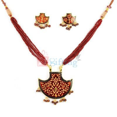 Tranditional Mangalsutra Pendant with Earrings