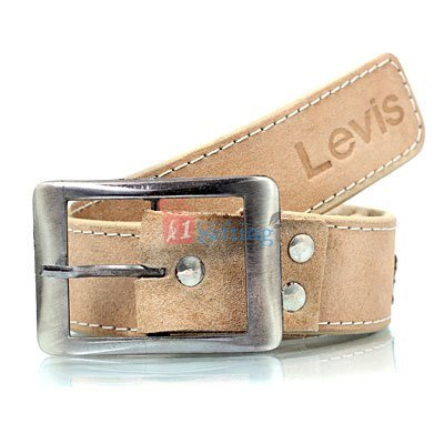 Levis Printed rough leather look hand stitched belt