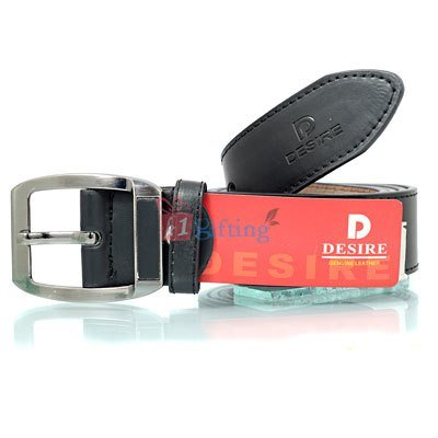 Desire pin buckle genuine leather belt