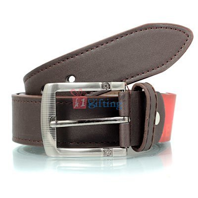 SPAIROW pin buckle brown desire leather belt