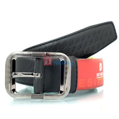 Zig-zag printed party and formal pure leather belt for men