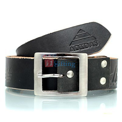 Rough and tough pure spunky leather look belt with metallic pin buckle