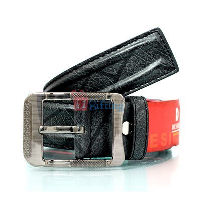 3D designed Desire functional metallic leather belt