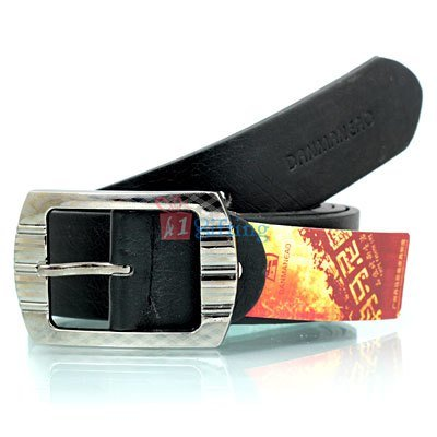 Danmaneao trio metallic strips design  single stitched pure leather belts