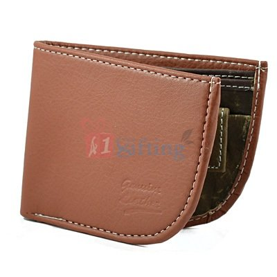 Leather Wallet for Men with Card Holder in Brown