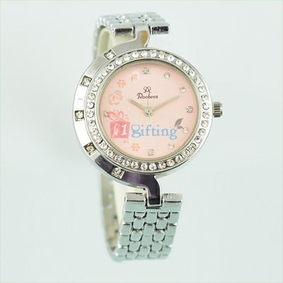 Fancy Branded Wrist Watch for Women Diamond Fitted Bracelet Silver Strap