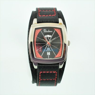 Emerald and Sporty Watch for Men with Day Date Leather Strap