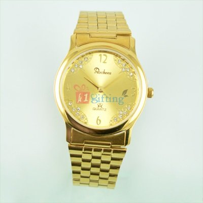Deluxe Popular Watch for Men Diamond Metal Band